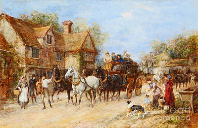 Change Painting - Changing The Horses by MotionAge Designs