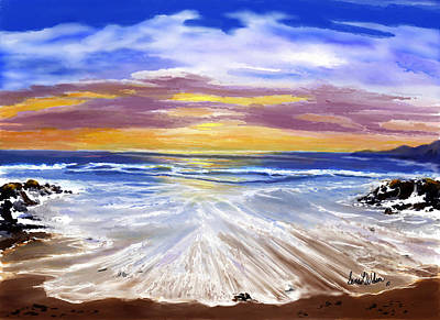 Art Print featuring the painting Changing Tide by Sena Wilson
