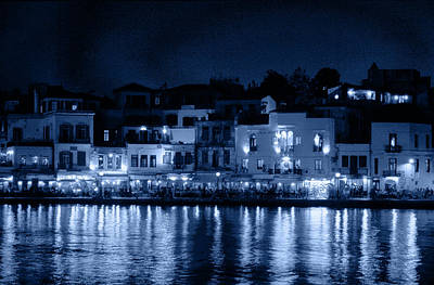 Photograph - Chania By Night In Blue by Jouko Lehto