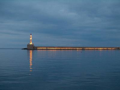 Photograph - Chania Lighthouse by Jouko Lehto