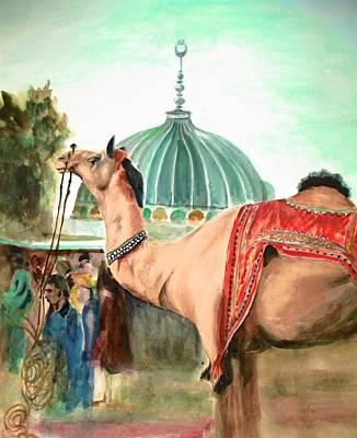 Bahawalpur Painting - Channan Pir Festival by Khalid Saeed