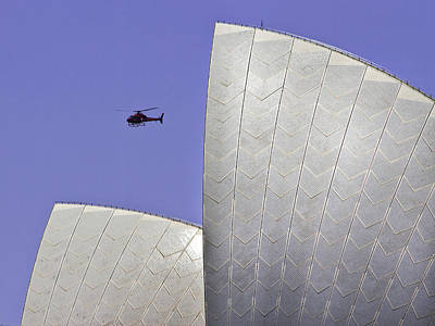 Photograph - Channel 7 Above Opera House by Miroslava Jurcik
