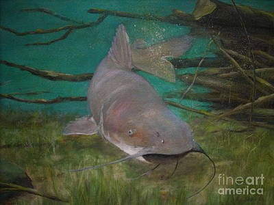 Catfish Painting - Channel Catfish by Jackie Hill