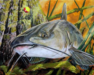 Painting - Channel Catfish by Karl Wagner