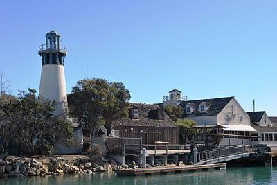 Photograph - Channel Island Harbor Lighthouse - Dock View by Matt Harang
