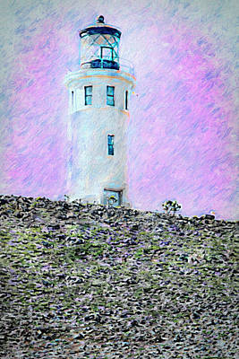 Mixed Media - Channel Islands Lighthouse by David Millenheft