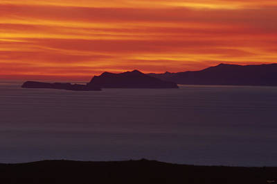 Red Skys Photograph - Channel Islands by Soli Deo Gloria Wilderness And Wildlife Photography