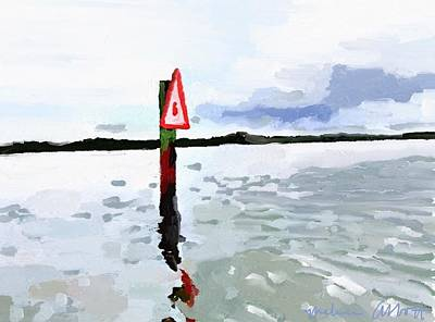 Painting - Channel Marker, Banana River, Merritt Island, Fl by Melissa Abbott