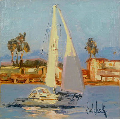 Painting - Channel Tacking by Barbara Andolsek