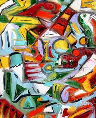 Alfredo Llana Painting - Channels by Alfredo Llana