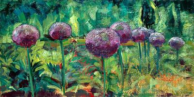 Chanticleer Allium Garden 2 Original by Monique Sarkessian