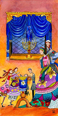 Painting - Chanukah Dreidel by Dawnstarstudios