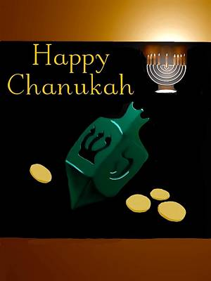 Chanukah Digital Art - Chanukah Greeting by Gerry Morgan