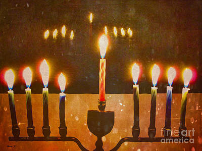 Chanukah Digital Art - Chanukah Reflections by Nina Silver