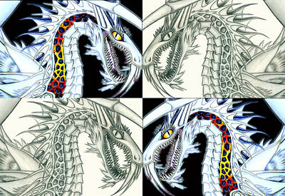 Drawing - Chaos Dragon Fact Vs Fiction by Shawn Dall