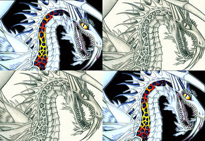 Drawing - Chaos Dragon Fact W Fiction by Shawn Dall