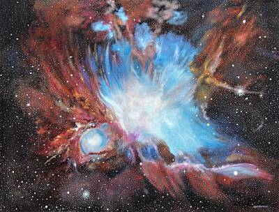 Painting - Chaos In Orion by Ken Ahlering