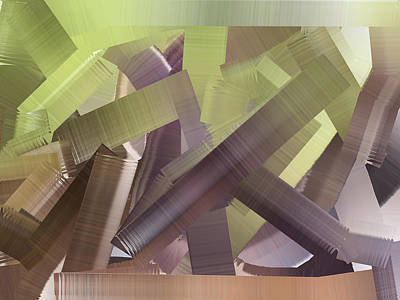 Digital Art - Chaos In The Library Abstract by Kathy K McClellan