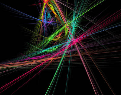 David Bowie Royalty Free Images - Chaos of rainbow Royalty-Free Image by Beautiful Things