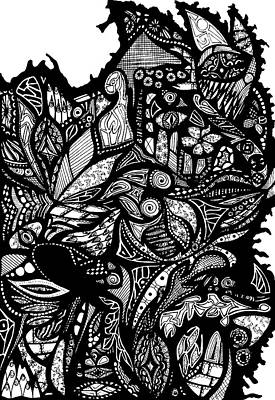 Drawing - Chaos by Ricky Stone