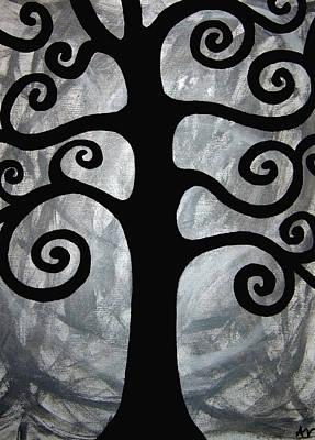 Chaos Tree Art Print by Angelina Vick