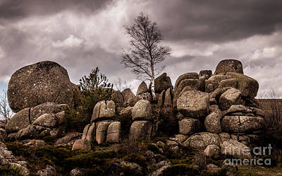 Cloudy Photograph - Chaos,lozere,france. by Robert Brown