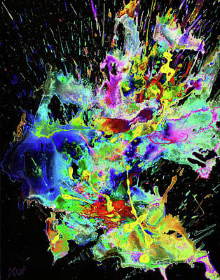 Digital Art - Chaotic Craziness Series 1998.033114invertx2 by Kris Haas