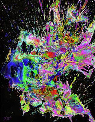 Digital Art - Chaotic Craziness Series 1998.033114invertx3 by Kris Haas