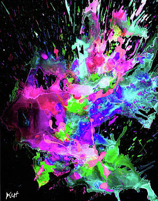 Digital Art - Chaotic Craziness Series 1998.033114popartinvertx2 by Kris Haas