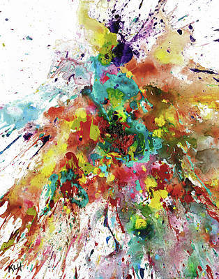 Painting - Chaotic Craziness Series 2067.040514 by Kris Haas