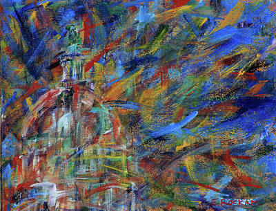 Painting - Chaotic Dome by Elizabeth Roskam