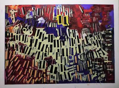 Painting - Chaotic Lines by Adalardo Nunciato  Santiago
