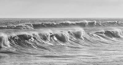 Photograph - Chaotic Waves In Black And White by Cliff Wassmann