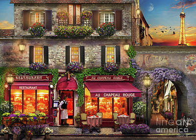 Paris Digital Art - Chapeau Rouge by MGL Meiklejohn Graphics Licensing