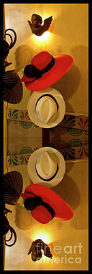Photograph - Chapeaux At Mansion Alcazar, Cuenca, Ecuador by Al Bourassa
