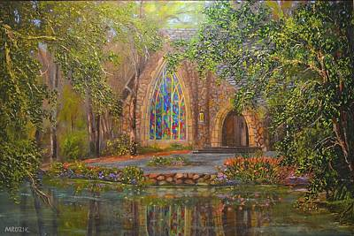 Painting - Chapel At Callaway by Michael Mrozik