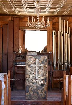 Photograph - Chapel At Castle Dome Mining Museum by rd Erickson