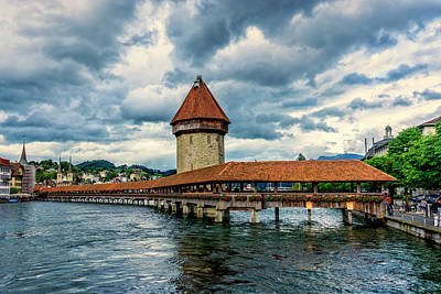 Photograph - Chapel Bridge Lucerne Switzerland_dsc8169_16 by Greg Kluempers