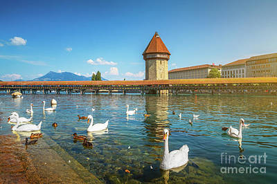 Photograph - Chapel Bridge Of Lucerne by JR Photography