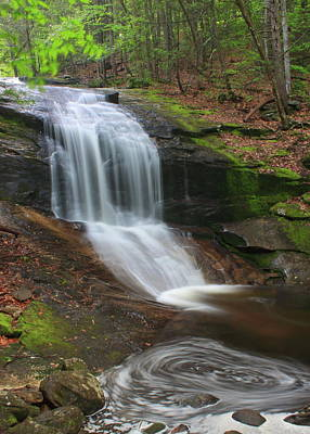 Photograph - Chapel Brook Falls And Swirling Pool by John Burk