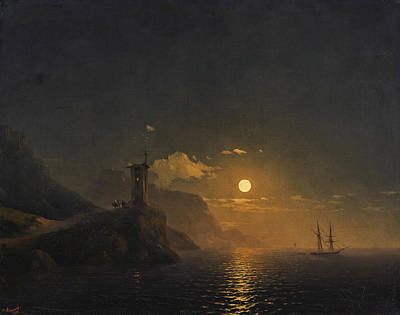 Painting - Chapel By The Coast On A Moonlit Night by Ivan Konstantinovich Aivazovsky