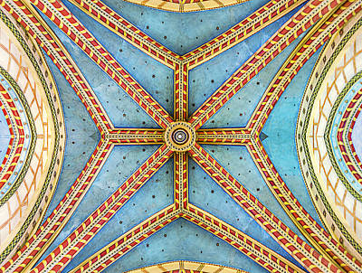 Photograph - Chapel Ceiling by Maria Coulson