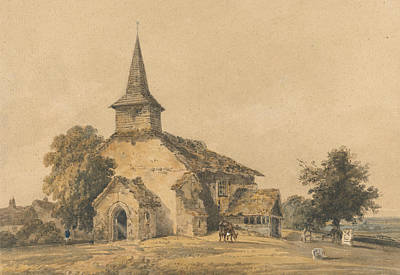 Chapel Church, Surrey Art Print by Thomas Girtin