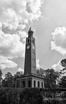 Photograph - Chapel Hill Bell Tower In Black And White by Jill Lang