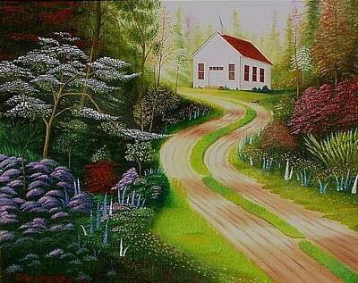 Painting - Chapel Hill by Gene Gregory