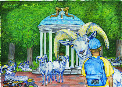 Drawing - Chapel Hill Nc The Freshman by Laura Brightwood