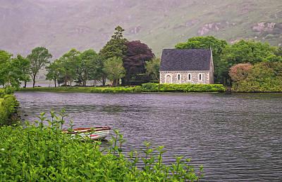 Gougane Barra Church Photograph - Chapel In The Mist - Gougane Barra - County Cork - Ireland by Tony Crehan
