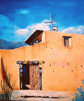 Chapel In The Sun Art Print by M Diane Bonaparte