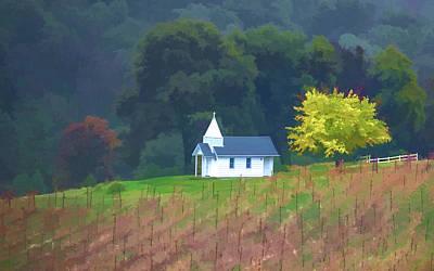 Chapel In The Vineyard Art Print by Floyd Hopper