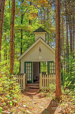 Tiny House Wall Art - Photograph - Chapel In The Woods by Edward Fielding